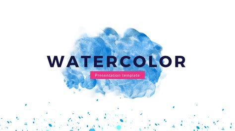 Free Artistic Watercolor Theme Powerpoint Template