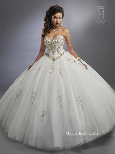 Carmina Quinceanera Dresses | Style - 4779 in Ivory/Gold