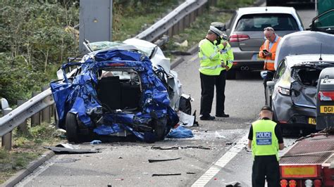 M5 crash: Man and woman killed in seven-vehicle collision