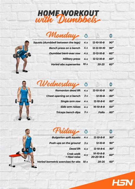 Home Workout with 2 dumbbells: first month (I) - HSN Blog