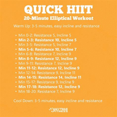 Quick HIIT - 20 Min Elliptical Workout - Anytime Fitness