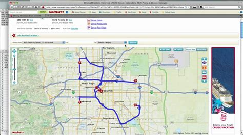 mapquest route planner Get directions and show routes
