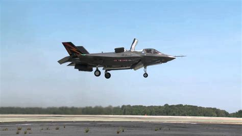 First F-35B Vertical Takeoff Test - YouTube