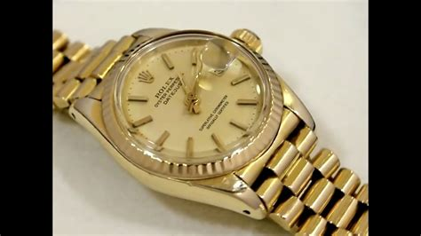 Rolex Oyster Perpetual Datejust, 18ct Yellow Gold, Ladies