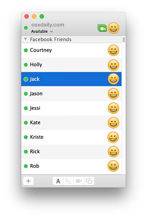 How to Use FaceBook Messenger on Mac OS X via Messages App
