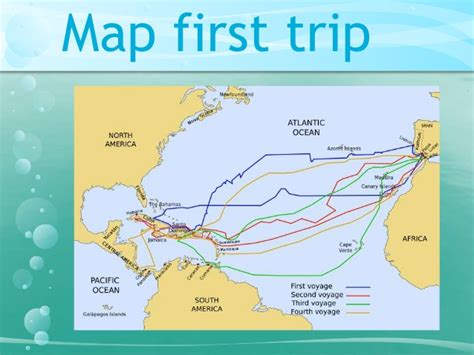 The first travel of Christopher Columbus