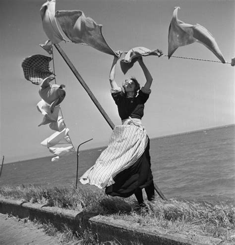 Laundry blowing in the wind, Volendam, The Netherlands