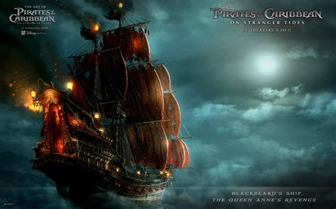 Blackbeard's Ship in Pirates Of The Caribbean 4 Wallpapers