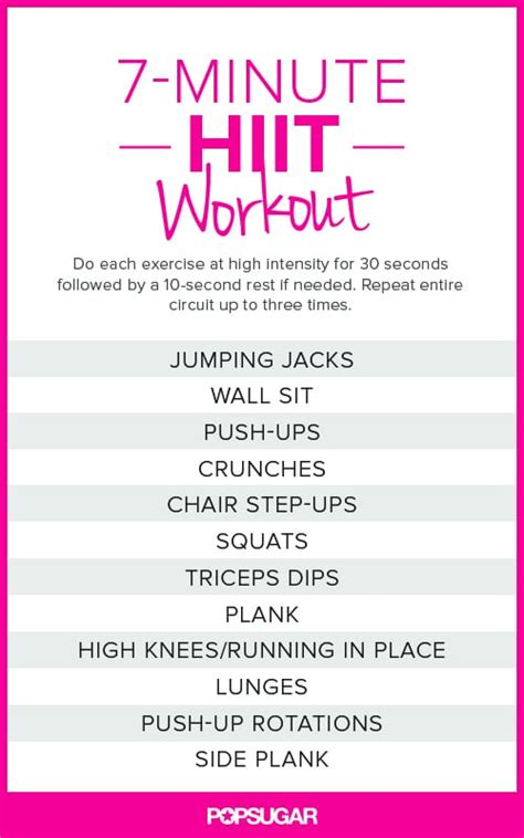Just HIIT It | Printable Bodyweight Workouts | POPSUGAR