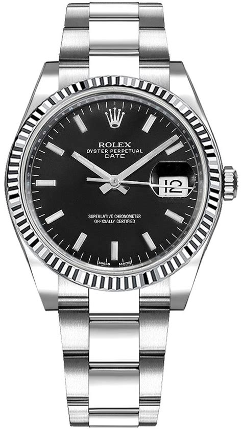 115234 Rolex Oyster Perpetual Date 34 Black Dial Oyster