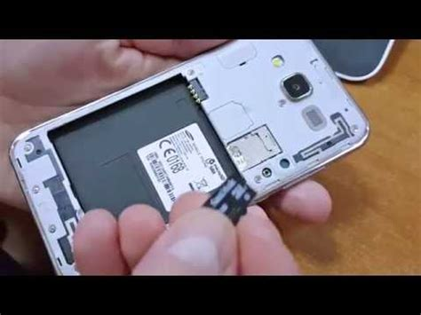 Galaxy J5 - How to insert micro SD card - YouTube