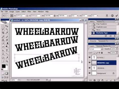 Creating angled text in Photoshop (the right way) - YouTube