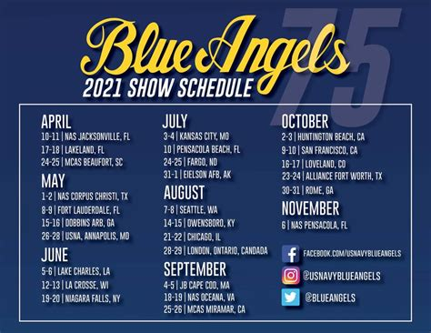 Blue Angels Release 2020 & 2021 Schedules — Airshow News