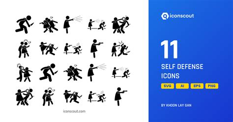Download Self Defense Icon pack - Available in SVG, PNG